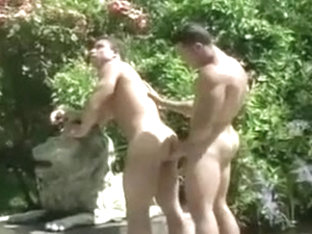 2 Muscle Guys At The Swiming Pool