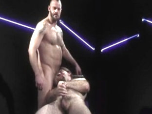 Hottest male pornstar in crazy blowjob, domination homo porn scene