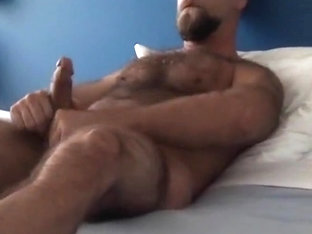 Mega hairy masturbating hottie