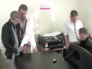 Big Dicks, Little Twinks - Orgy In A Office Room