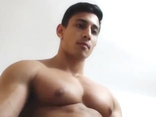 Hot Muscled Big Dick Brazilian Jerks Off & Cums