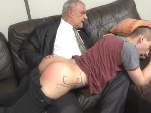 Dad spank and bareback boy