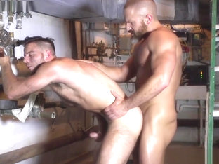 Hunky DILF cocksucked before plowing ass