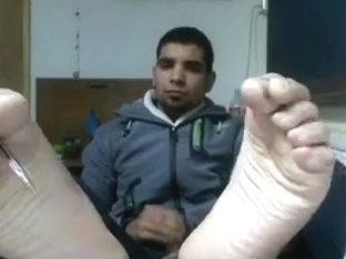 Straight guys feet on webcam #13