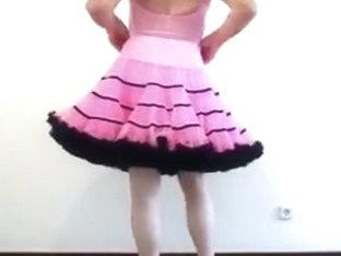 Strip im pink Petti