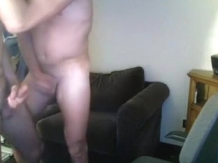 Naughty male is having a good time at home and shooting himself on webcam