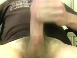 Sweet BF is masturbating in a small room and filming himself on webcam