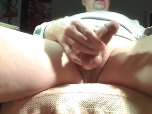 Watching Daddy between his legs...