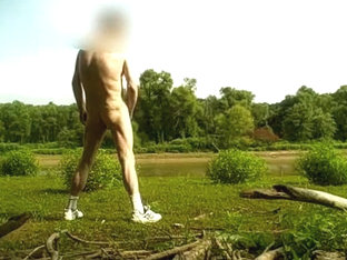 Wank Out In Open By Lake