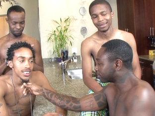 Black Lion, Kash, Kavasia, Mr. Pipe 'Em, Sean, T.Y., Thugzilla in Thug Orgy #3 scene 1 - Bromo