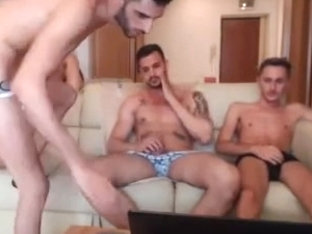 Four naked romanian buddies