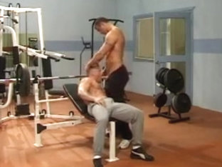 Muscle Men At Gym