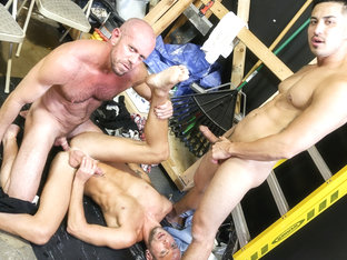 Hunter Vance & Matt Stevens & Dek Reckless in Relieving Work Place Tension Part 2 Video - MenOver30