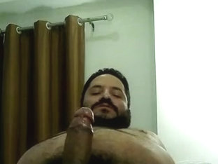 Mexican chub fucking his sleeve and cumming