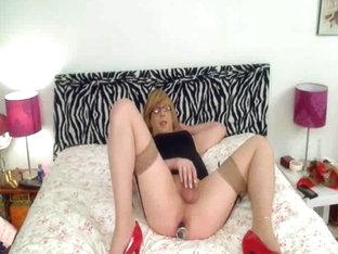 Crossdresser Toying And Cumming