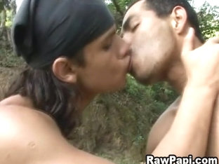 Gay Latino Men In A Steamy Outdoor Fucking