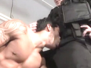 Fabulous male in best big dick, uniform homo sex scene