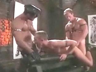 Crazy male in fabulous fetish, uniform homo sex movie