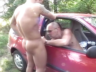 Bald Daddy Fucking Hunk Outside