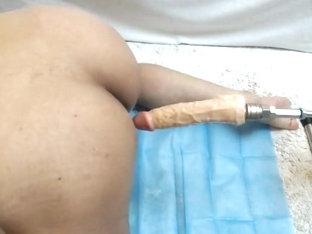 Genital pierce sex machine