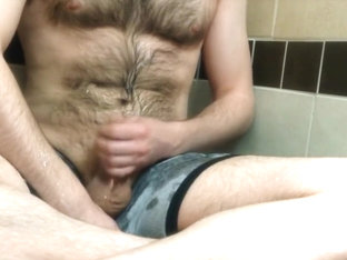 Jacking, Pissing All Over Myself, Then Cumming