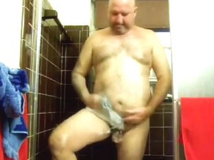 My sweet man playing with his tiny cock in the shower