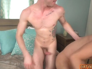 Muscle twinks anal sex with facial