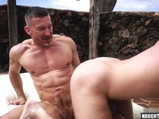 Big dick dilf anal sex and cumshot