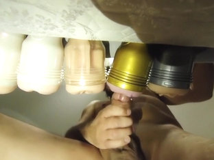 CD playing with 5 Fleshlights