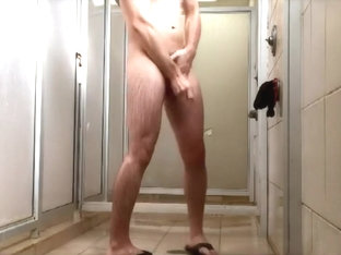 horny in shower, gym, sauna 5
