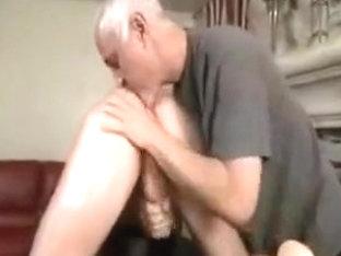 Mature guy massages a stud