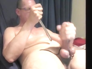 Tied up cock and balls.