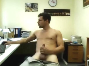 German daddy with cock 21 cm cum show in the office