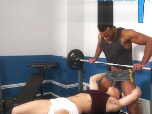 Muscle gay interracial with cumshot