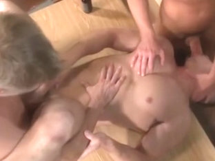 Marc Dylan fucked by two men