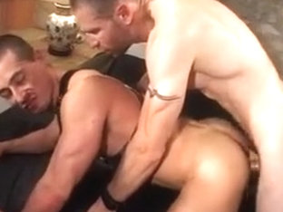 Gay leather video with fisting