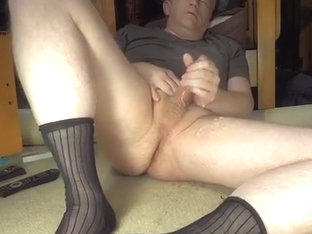 masturbating in tnt socks