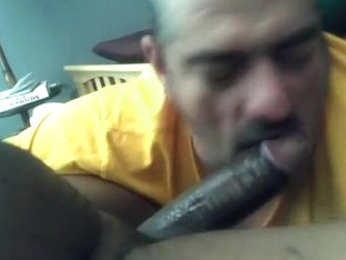 Cocksucker snorts, sucks big hard black cock