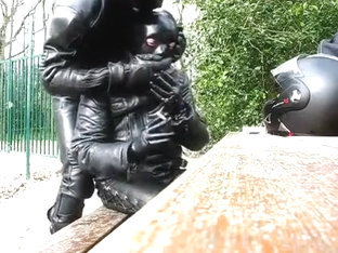 LEATHER BIKERS ON MOTORWAY