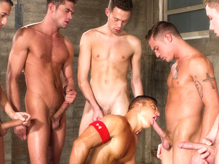 James Ryder & Luke Milan & JR Bronson in Pack Attack 8: J.R. Bronson Scene