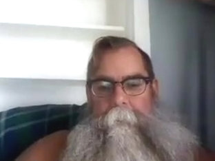 Bushy Bearded Dad Cum