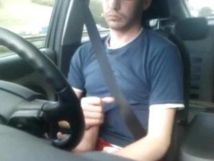 Wank And Cum In Car