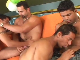 Hot Gay Orgies and Action in Fivesome