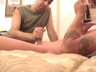 Bald Muscle Stud Shows His Enormous Cock