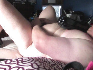 Hubby playing in bedroom watching