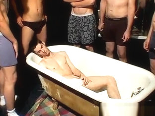 Self suck after piss and naked men outdoor pissing gay Frat Piss: