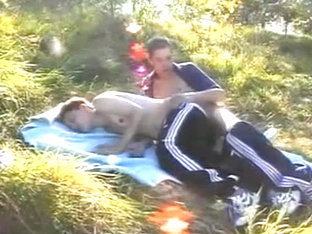 German Twinks In The Woods Fucking On A Blanket