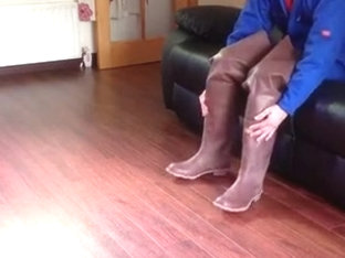 Me in my brown rubber superga waders