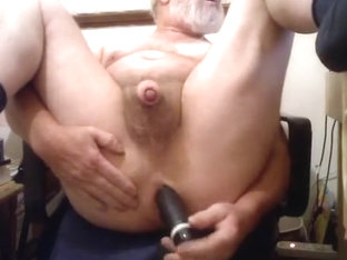 Licking my cum off the dildo that fucked me
