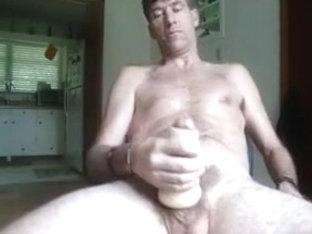 Massive fucking cummy spurt from my pussy sleeve